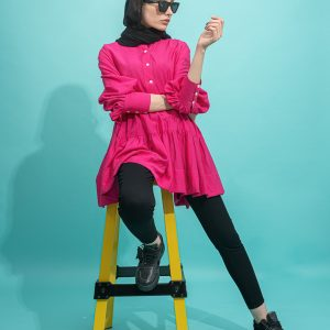 مانتو دامنی کوتاه مدل barbi dress