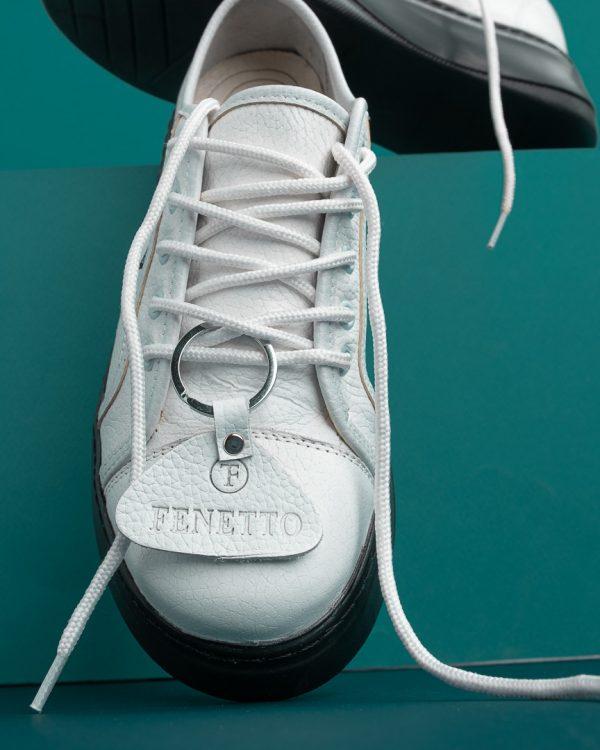 کتانی زنانه لژدار تمام چرم مدل num4 leather sneakers
