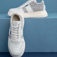 کتانی زنانه سفید لژدار مدل num2 leather sneakers