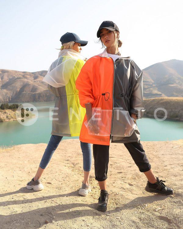 بارانی زنانه ضد آب دورنگ مدل Black Light