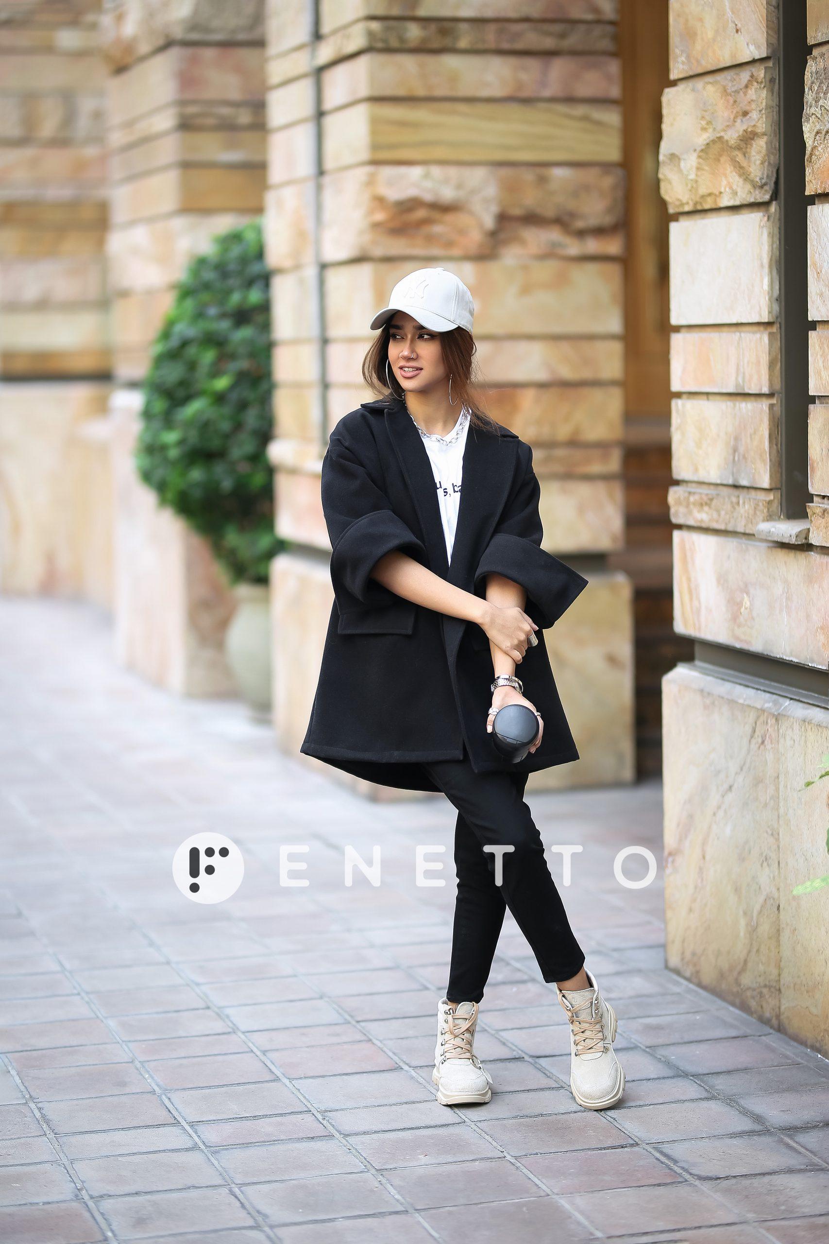 پالتو زنانه کوتاه مدل فوتر ساده (simple footer)