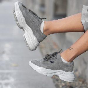 کتانی زنانه لژدار اسپرت num5 ashbalt sneakers