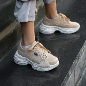 کتانی زنانه لژدار اسپرت مدل num5 ashbalt sneakers