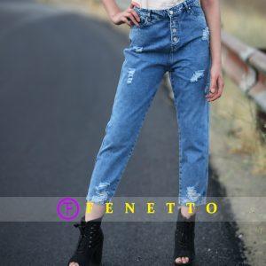 شلوار جین زنانه زاپدار آبی zap