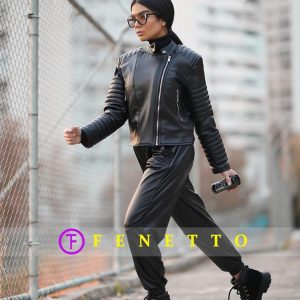 ست چرم زنانه مدل leather set