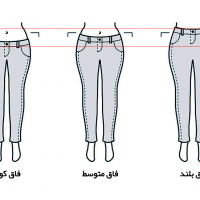 انواع فاق شلوار زنانه