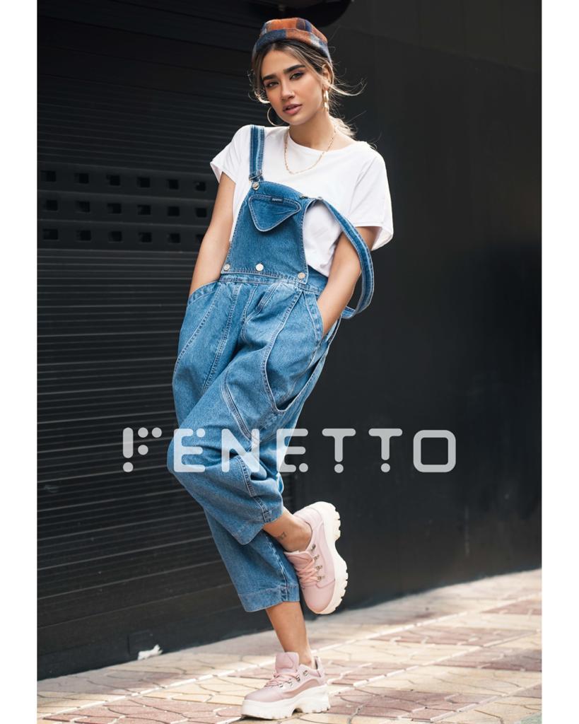 شلوار جین زنانه پیش بندی مدل overall jean