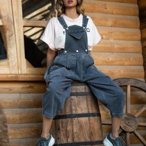 اورال جین زنانه مدل overall jean